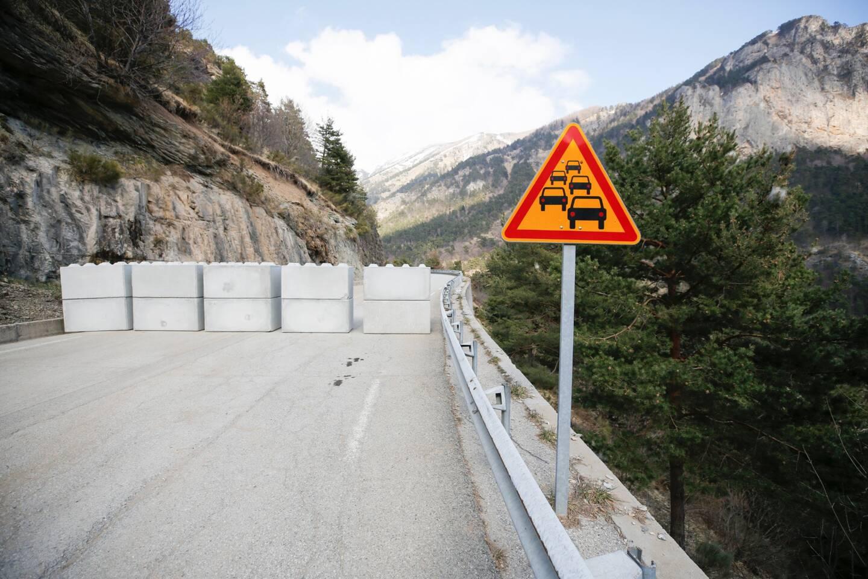 L'accès au tunnel temporairement bloqué sur la RD 6204.