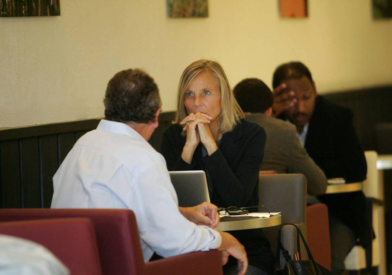Marielle de Sarnez, lors de l'université d'été du MoDem à Giens, en 2010.