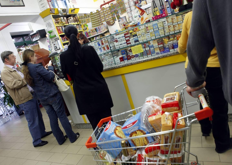 Un magasin de tabac, en Italie