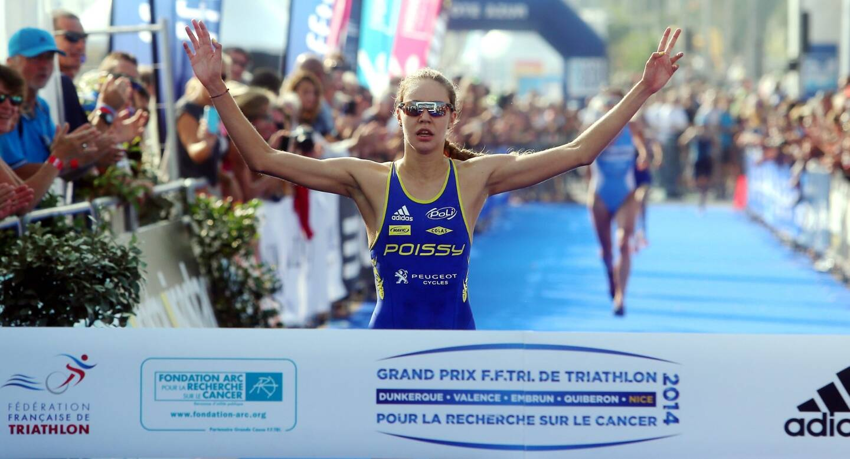 Cassandre Beaugrand au triathlon de Nice en 2014.