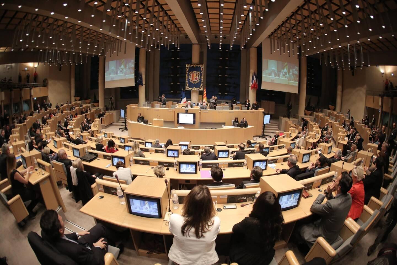 L'assemblée du conseil régional.