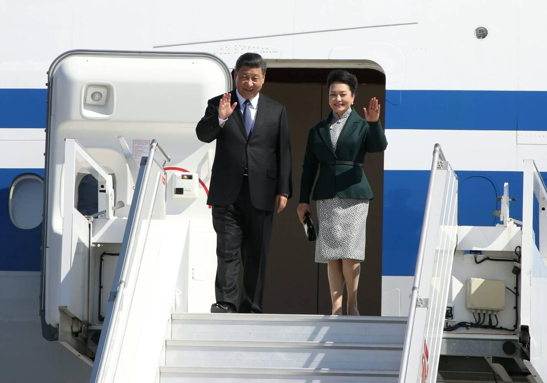 Xi Jinping lors de sa venue à Nice en 2019.