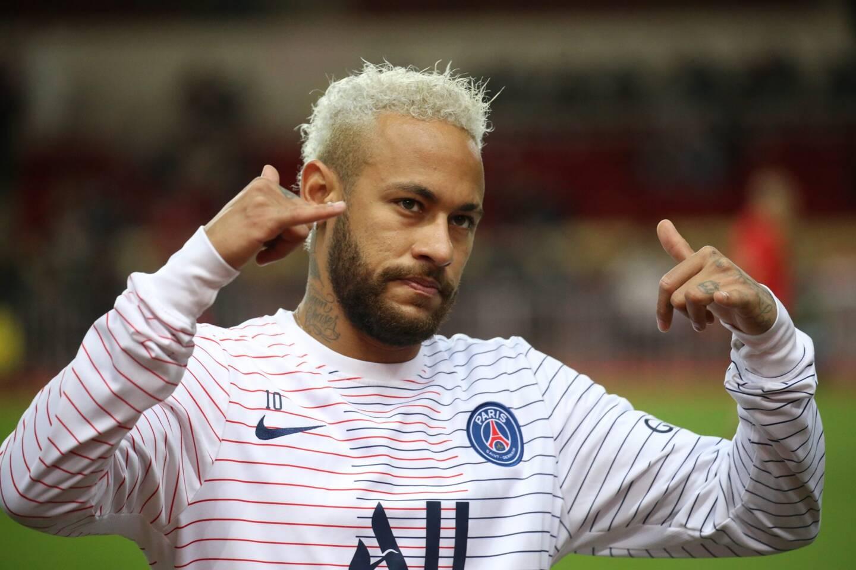 Neymar lors de Monaco-PSG, le 15 janvier 2020.