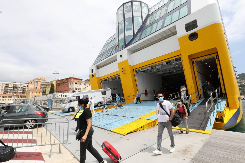 A l'arrivée d'un ferry en Corse (photo d'illustration).