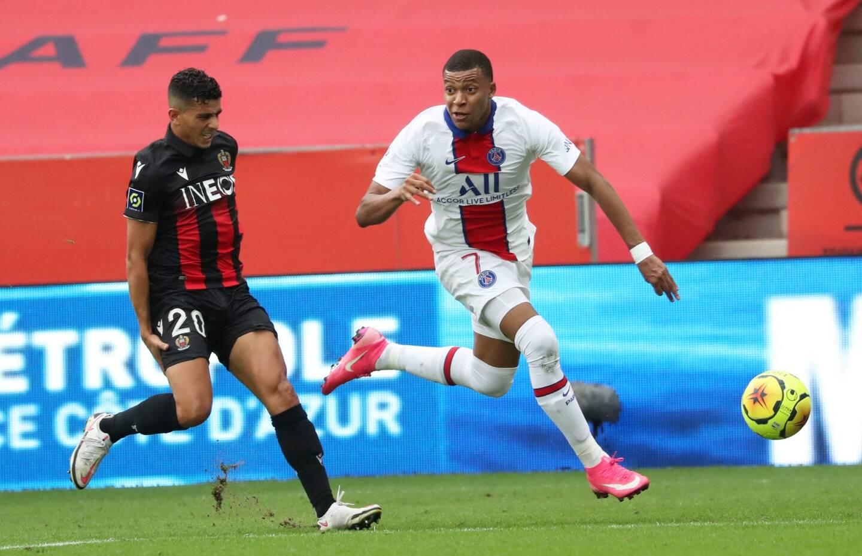 Lors de Nice-PSG le 20 septembre 2020.