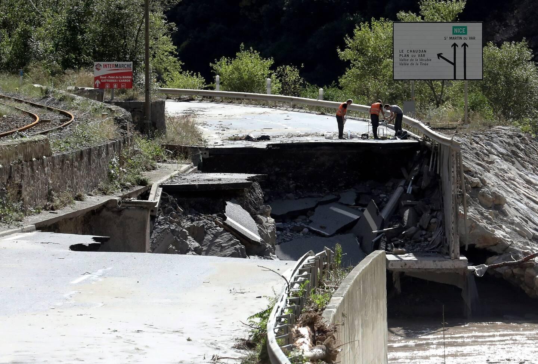 Les vallées du Var et de la Tinée ont été fortement marquées par le passage de la tempête Alex.