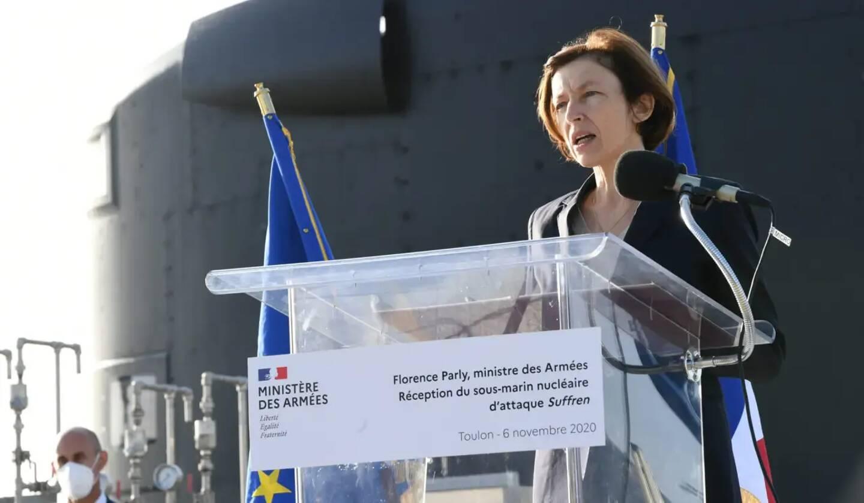 Florence Parly, lors d'un déplacement à Toulon.