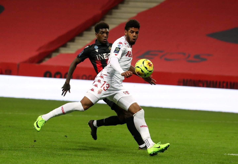 Willem Geubbels (ici contre Nice) est titulaire avec l'AS Monaco contre Lorient ce mercredi soir.