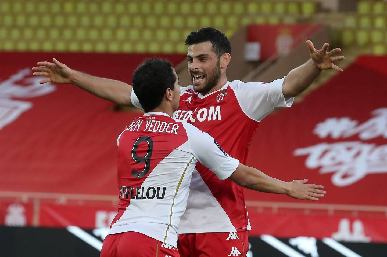 Kevin Volland et Wissam Ben Yedder sous les couleurs de l'AS Monaco.