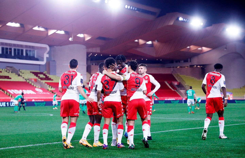 Lors de Monaco-Saint-Etienne le 23 décembre dernier.
