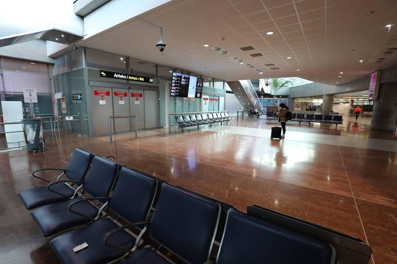 Le terminal 2 de l'aéroport Nice Côte d'Azur, désert. Illustration.