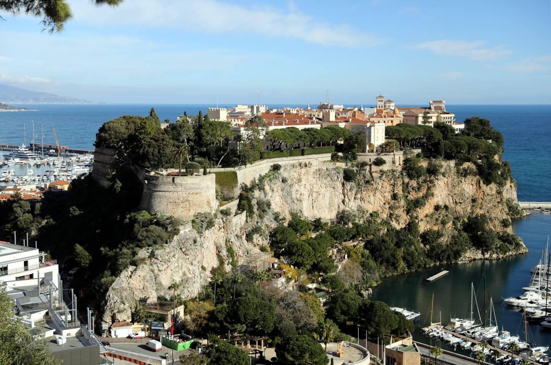 Une vue sur le rocher de Monaco, où est situé le palais princier.
