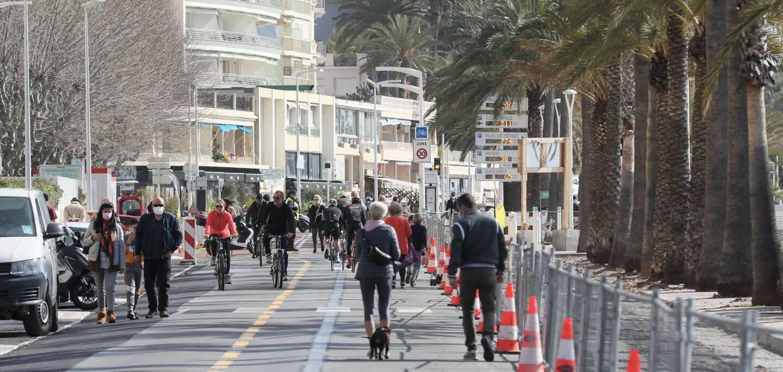 Le boulevard du midi piéton à Cannes.