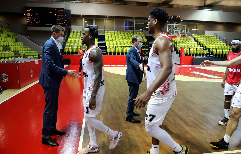 Lors du match aller de l'AS Monaco Basket contre Gran Canaria mardi 6 avril.