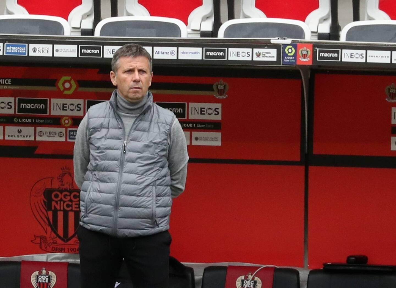 L'entraîneur de l'OGC Nice, Adrian Ursea.