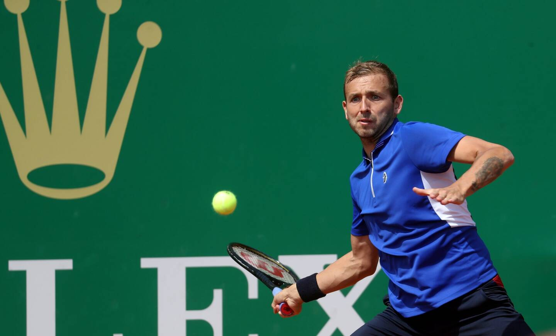 Daniel Evans, sur les courts de Monte-Carlo.