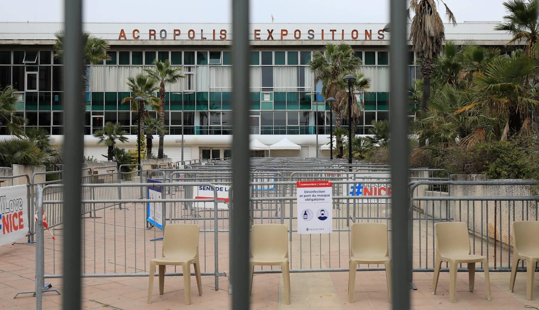 Le centre de vaccination du Palais des Expositions de Nice, ce samedi 17 avril.