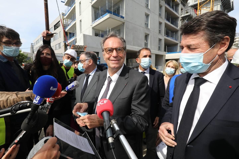 Renaud Muselier en visite à Nice ce lundi, aux côtés de Christian Estrosi.