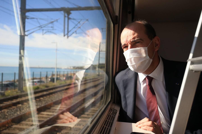 Le Premier ministre Jean Castex, à bord du Paris-Nice.