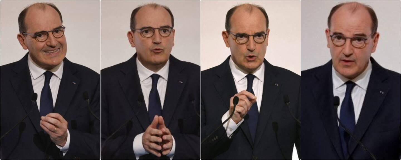 4 nuances de Jean Castex, lors de la conférence de presse du 22 avril.