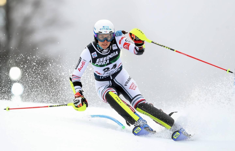 Nastasia Noens a terminé 12e du slalom de Zagreb ce dimanche.