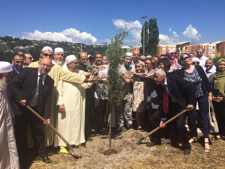 En juin 2018, un olivier avait été symboliquement planté sur le terrain de la future grande mosquée par les autorités municipales et religieuses.