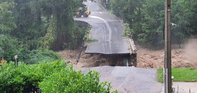 Le pont Maissa, à Saint-Martin-Vésubie, a été détruit par le Boréon lors de la tempête Alex, début octobre.