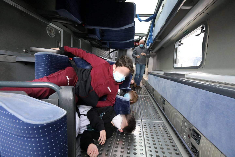 Menton le 07/01/2021 - Travaus de modernisation du dépôt des bus et sensibilisation au port de la ceinture dans les bus