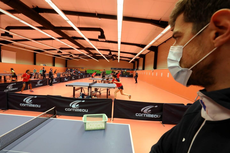 L'équipe de France de tennis de table en stage au Creps de Boulouris.