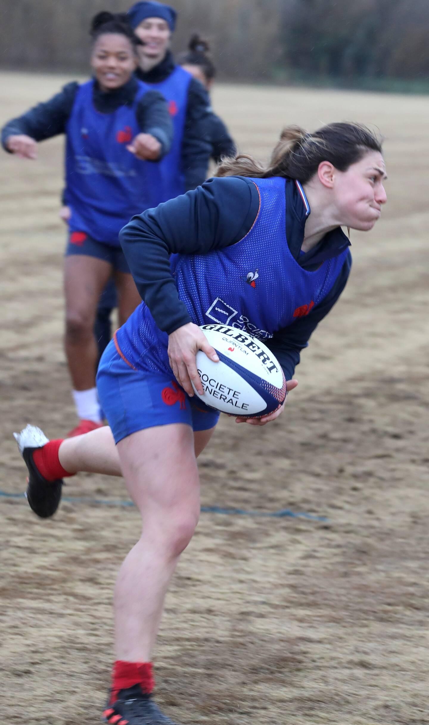 Entrainement de l'équipe de France féminine de rugby à 7 au polo club de Gassin (Var)