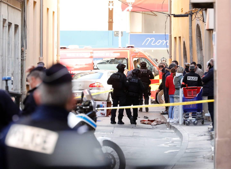 Lundi 1er février, dans la rue Garibaldi à Toulon