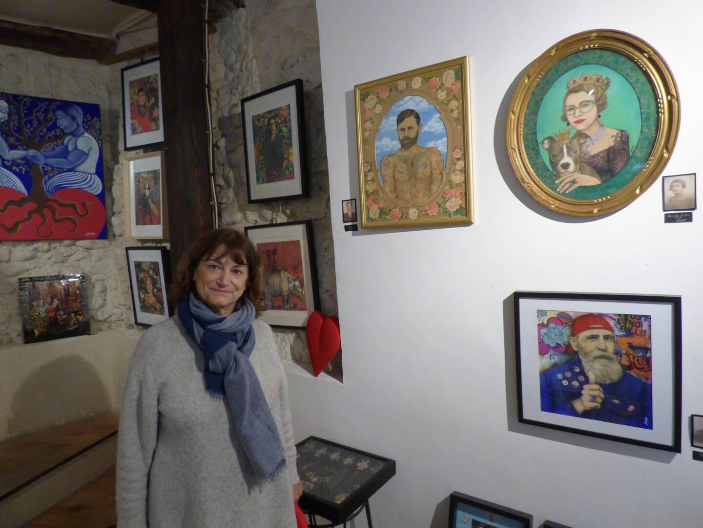 Les portraits d'aïeuls revisités de Jane Cros. (Photo L.Q.)