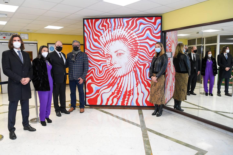 Signée Marcos Marin, l'œuvre a été réalisée dans le cadre du Projet Grace Forever, mené par l'artiste et Luciana de Montigny. (Photo Dir Com / Manuel Vitali)