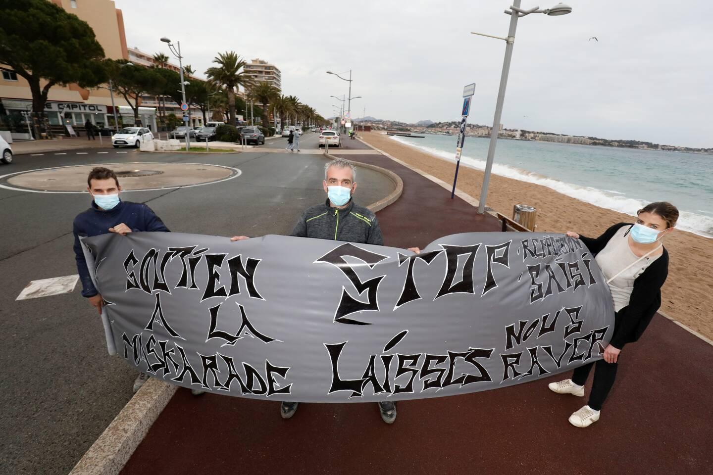 Julien et Romain attendent les participants samedi 13 février à partir de 14 heures, au parking de Port-Fréjus.