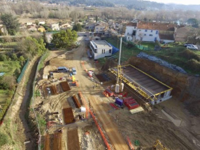 La première pierre de la maison d'Adrien a été posée en septembre dernier, route de la Fènerie.
