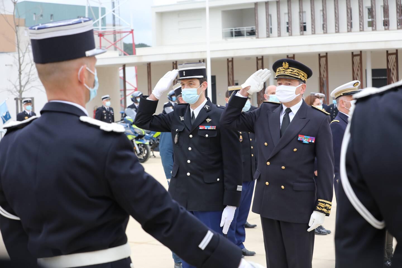 La cérémonie a été présidée par le préfet Evence Richard, accueilli par le colonel Alexandre Malo. (Photo Luc Boutria)