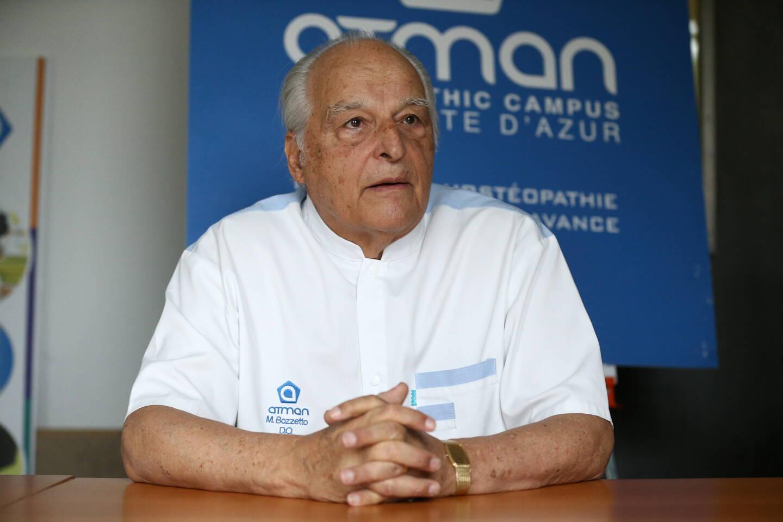 Marc Bozzetto est ostéopathe depuis 45 ans et a créé l'école Atman. (Photo archives Sébastien Botella)