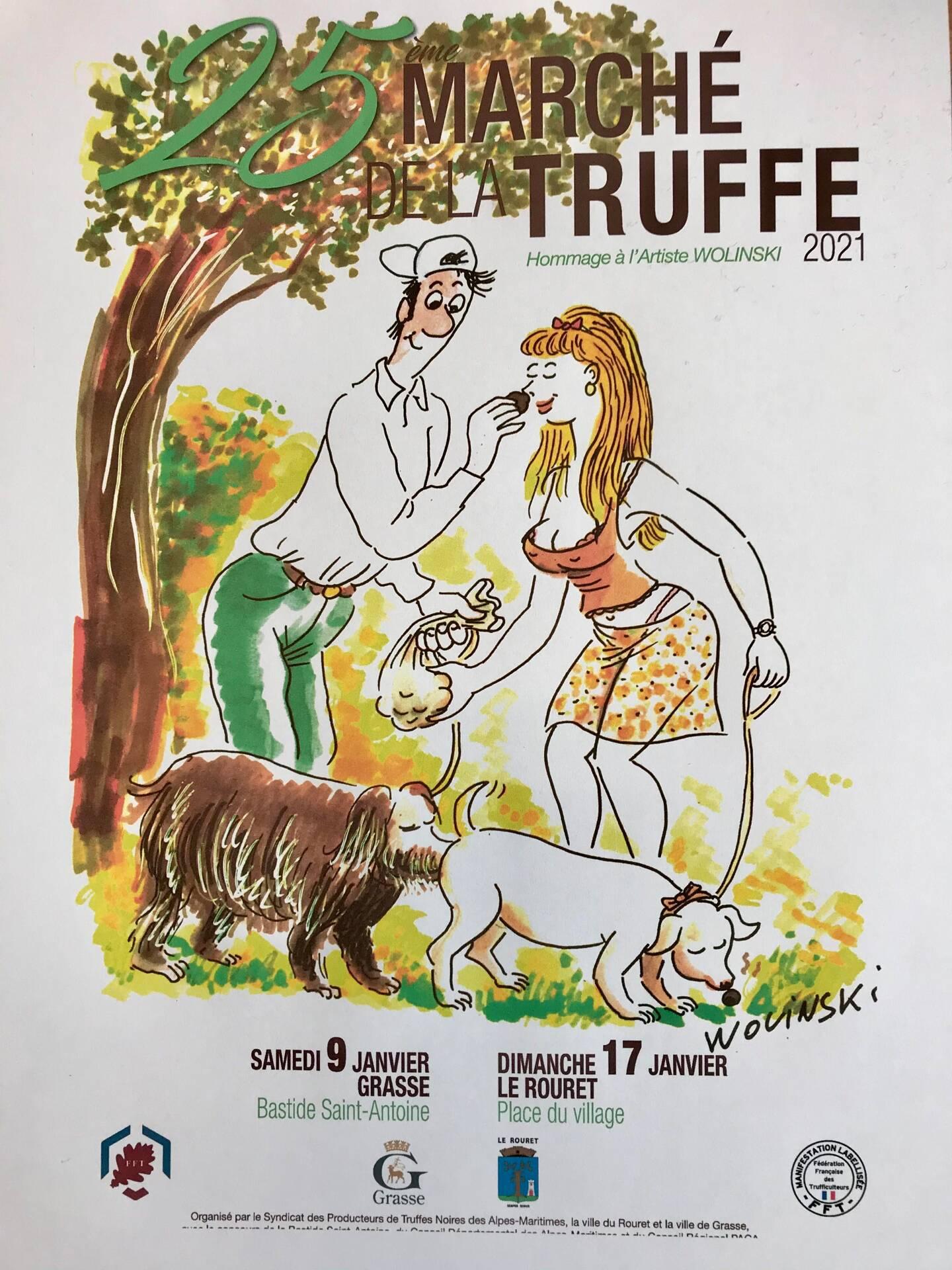 L'affiche signée Georges Wolinski : un humour coquin...