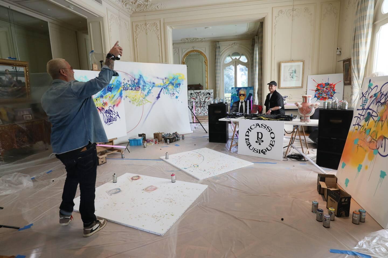 Florent Picasso, un set musical et pictural avec le graffeur Cyril Kongo