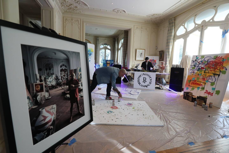 Florent Picasso et Cyril Kongo à la villa Picasso à Cannes