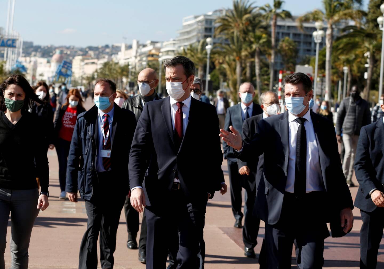 Samedi, Olivier Véran était à Nice pour poser les bases d'un éventuel confinement dans les Alpes-Maritimes.