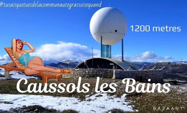 """Caussols ne fait pas partie des communes concernées par les mesures mais les internautes rêvent déjà de la """"plage de l'observatoire""""."""