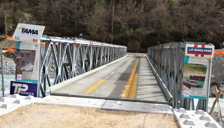 Le pont de Veil de Breil a été inauguré ce mardi matin.