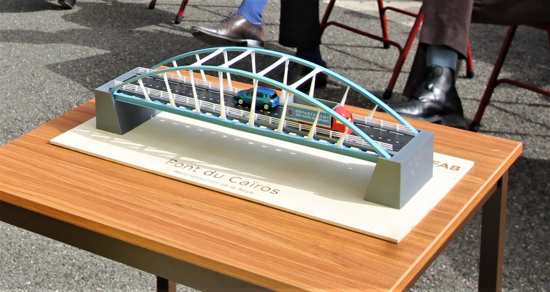 La maquette du pont du Caïros.