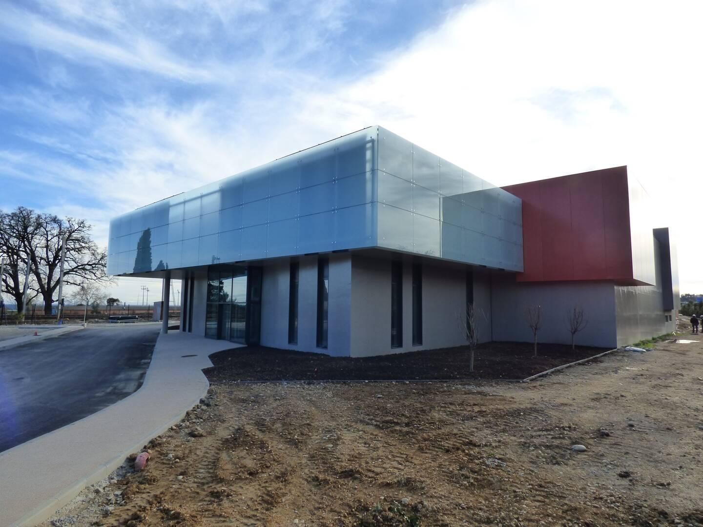 La façade principale de la nouvelle station d'épuration. Aeris, un chantier de  millions d'euros qui n'aurait pas été possible sans la métropole.