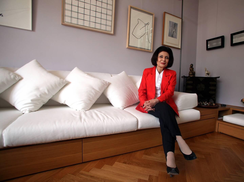 Muriel Marland-Militello, en 2014, à son domicile.