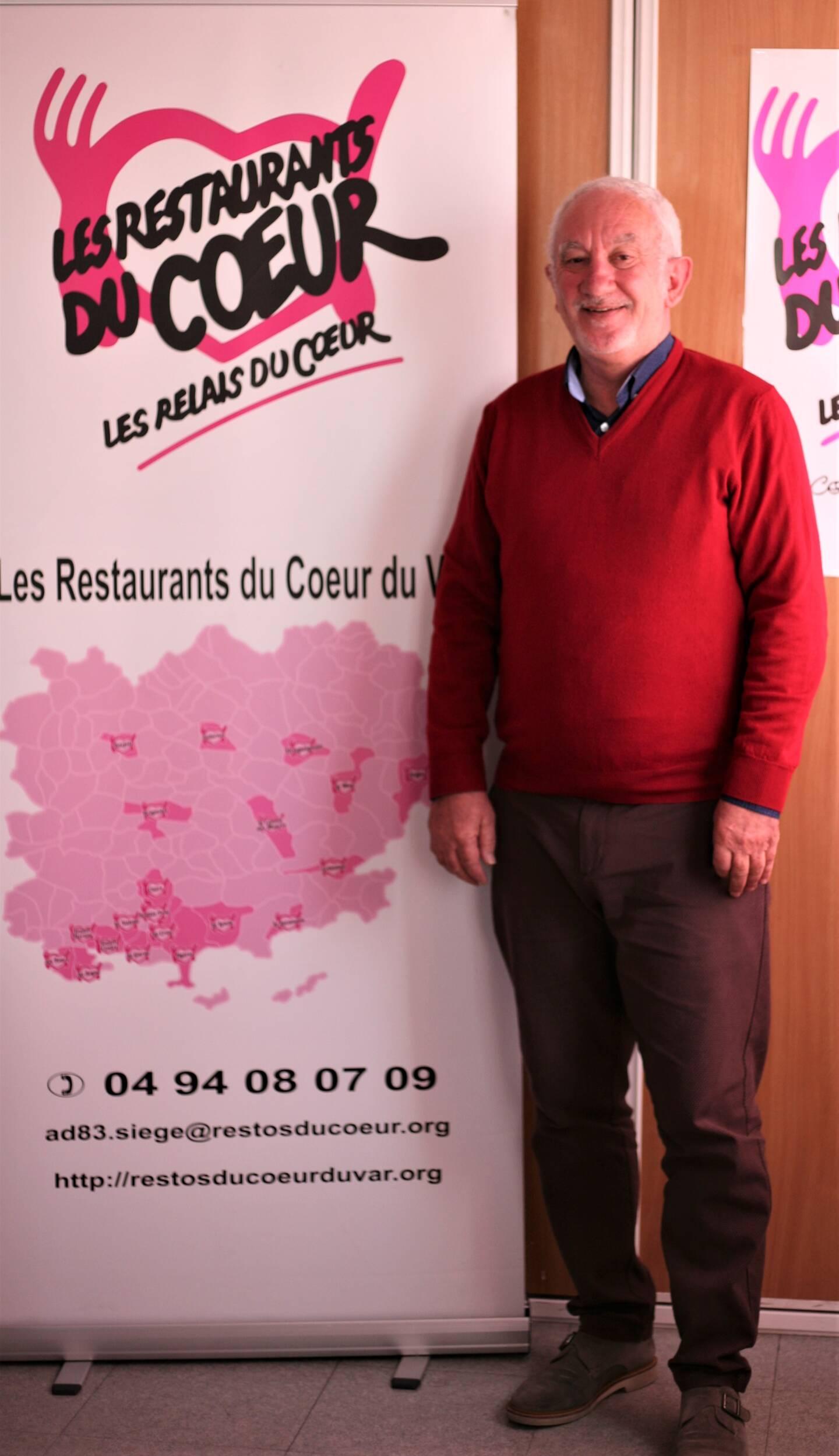 Jean-Philippe Florenson, président des Restos du Cœur du Var. (Photo C.H.)