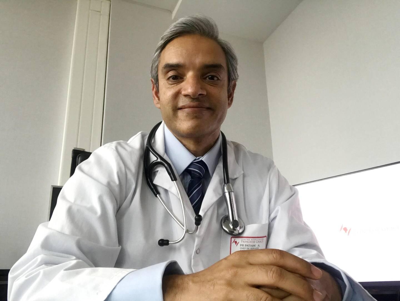 Le Pr Atul Pathak, chef du service cardiologie du CHPG, est ausi président de la Société française d'hypertension artérielle. Il est un expert européen reconnu en la matière.