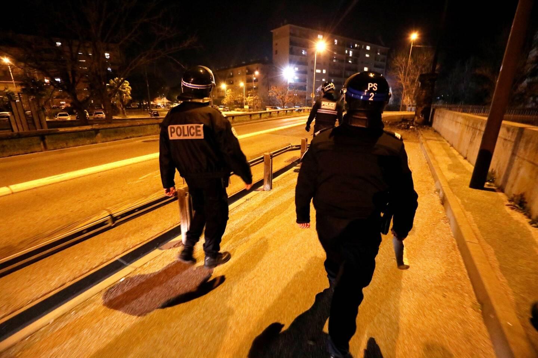Opération de police dans le quartier sensible de La Gabelle à la suite à de violences urbaines. (Photo Philippe Arnassan)