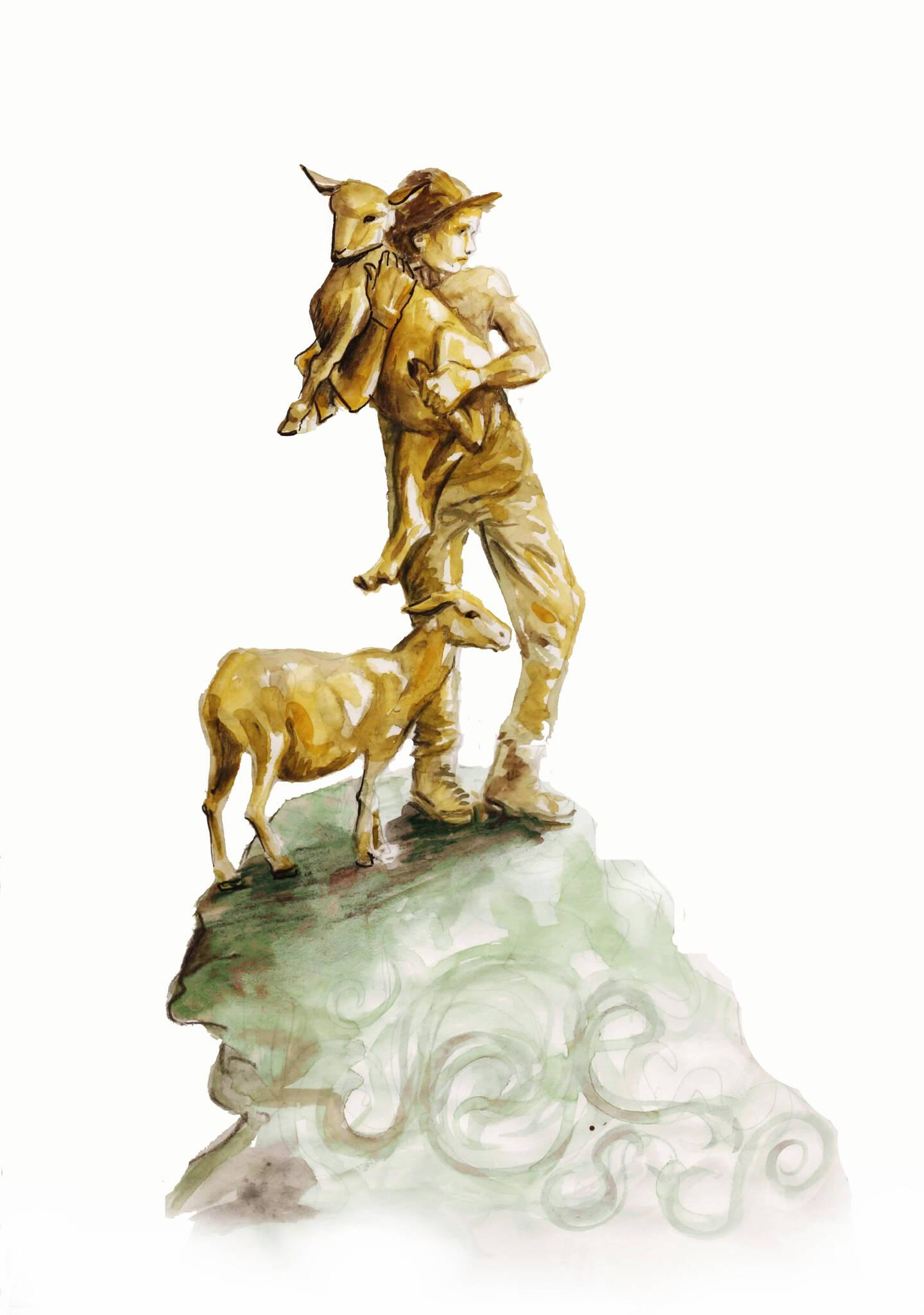 La sculpture représentera le berger disparu Joseph Giordano.